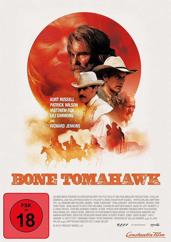 Bone Tomahawk - DVD Blu-ray Cover FSK 18